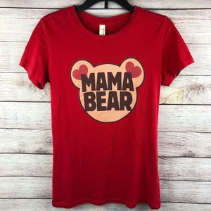 Mama Bear Red Form Fitting T Shirt